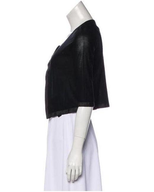 451ae45117 ... Narciso Rodriguez - Black Silk Knit Cardigan - Lyst ...