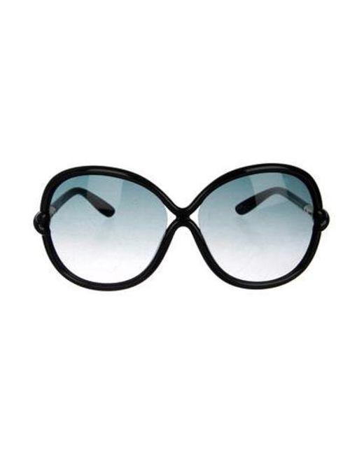 685f07b0e0e Tom Ford - Metallic Whitney Oversize Sunglasses Black - Lyst ...