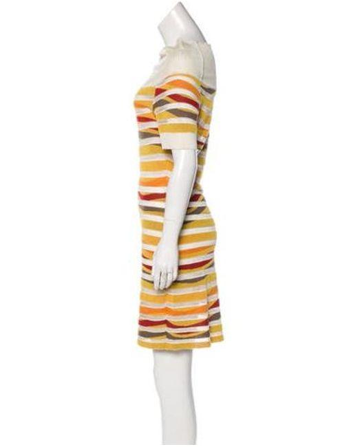 6c65ce8292 ... Missoni Sport - Yellow Short Sleeve Mini Dress - Lyst ...