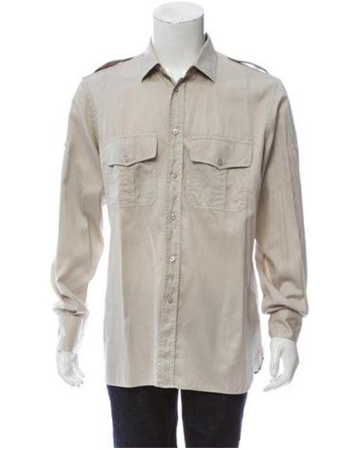 74fbcf8c6c7 Tom Ford - Natural Utility Button-up Shirt Khaki for Men - Lyst ...