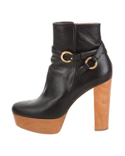 2bb1b5e7bac2 Stella McCartney - Black Vegan Platform Ankle Boots - Lyst ...