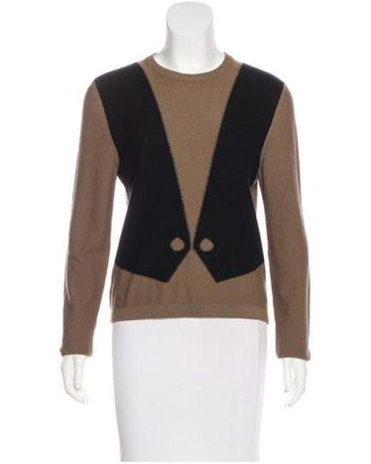 Sonia Rykiel - Brown Wool & Angora Knit Sweater - Lyst