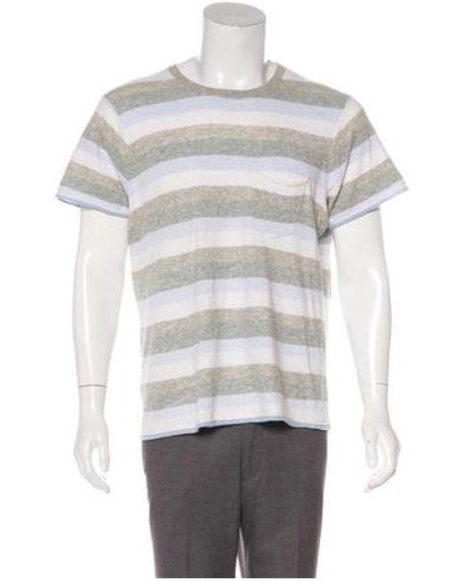 Men's Gray Wool-blend T-shirt Multicolor