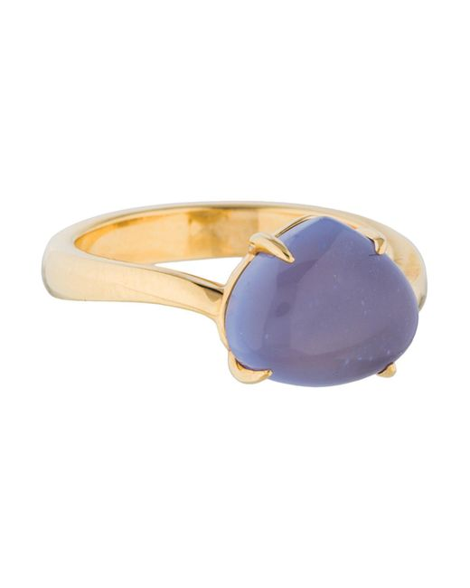 BVLGARI - Metallic 18k Chalcedony Sassi Ring Yellow - Lyst