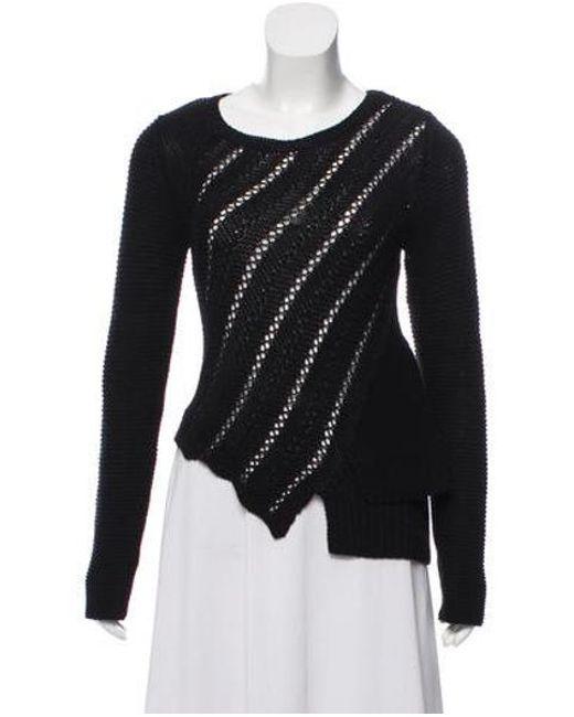 326ac47b9550b Proenza Schouler - Black Asymmetrical Bateau Neck Sweater - Lyst ...