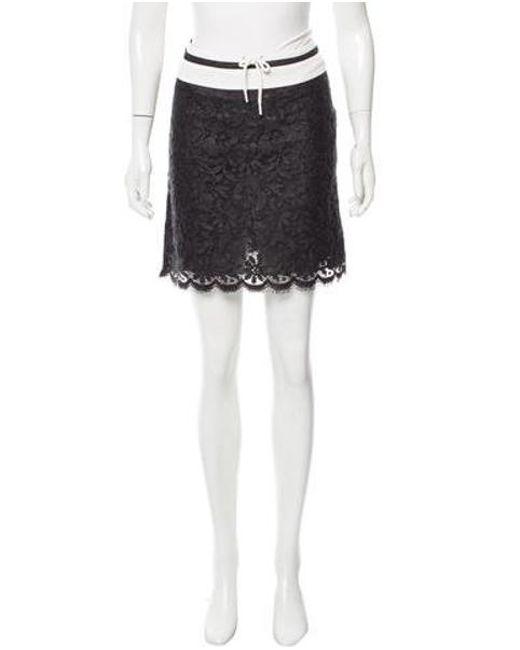 Anna Sui - Black Guipure Lace Mini Skirt - Lyst