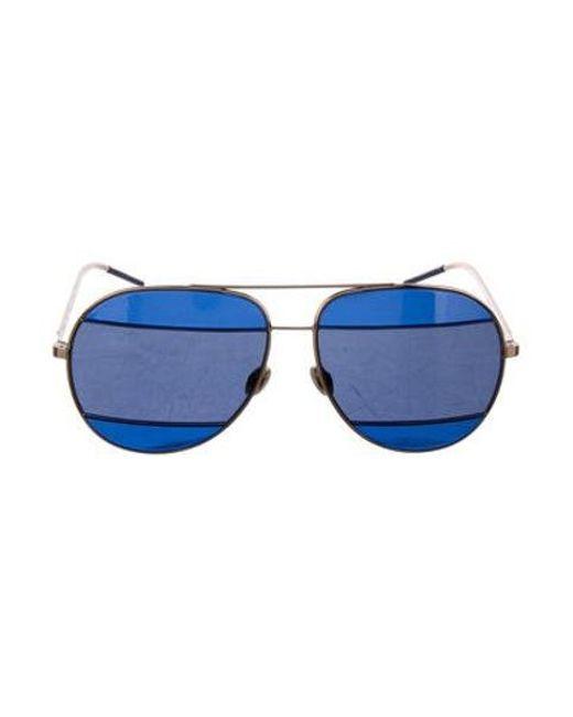 fb9d2af51d Dior - Metallic Tinted Aviator Sunglasses Gold - Lyst ...