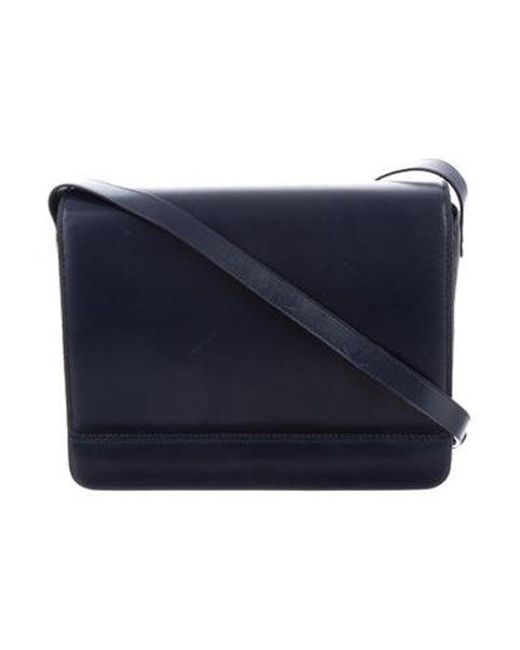 52c0aba562ff Ferragamo - Metallic Leather Shoulder Bag Navy - Lyst ...