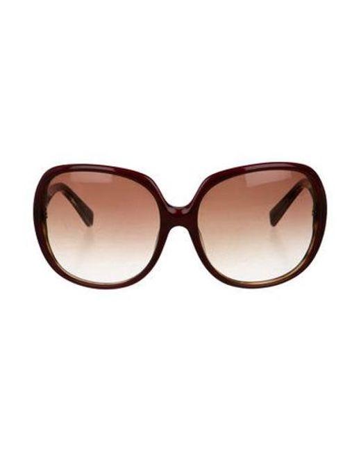 5bad2cc841c Dita - Red Gadient Oversize Sunglasses - Lyst ...