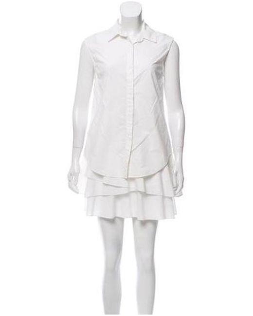 66d777650 10 Crosby Derek Lam - White Layered Mini Dress - Lyst ...