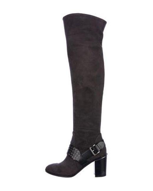 5560d020e6fe MICHAEL Michael Kors - Gray Michael Kors Suede Over-the-knee Boots - Lyst  ...