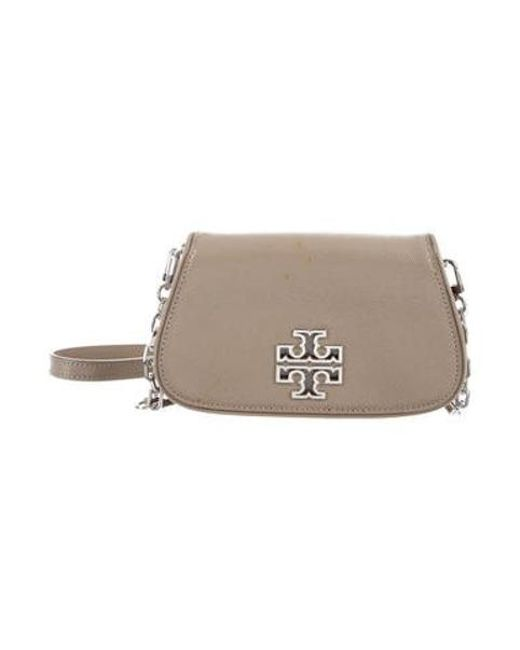 d3e117c98a74 Tory Burch - Metallic Britten Mini Crossbody Bag Silver - Lyst ...