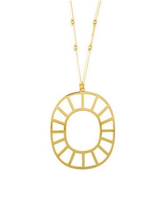 Arme De L'Amour - Metallic Medallion Pendant Necklace Gold - Lyst