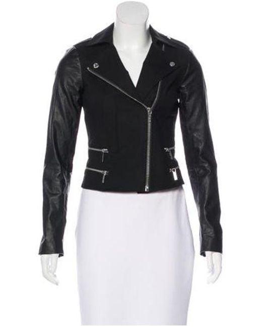 MICHAEL Michael Kors - Black Michael Kors Notch-lapel Moto Jacket - Lyst