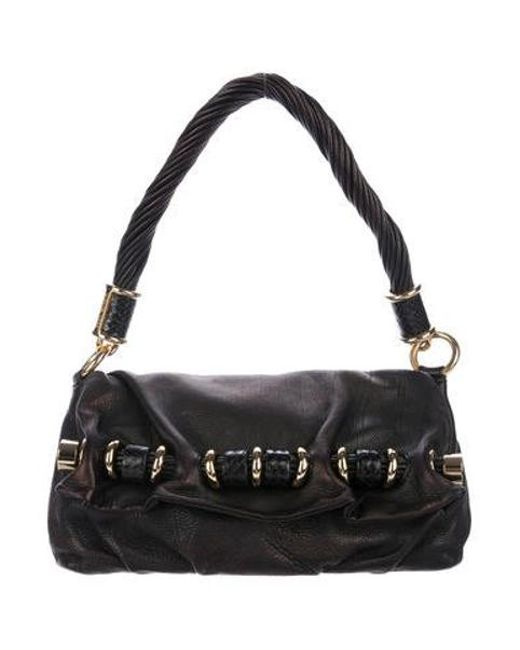 6f455ad55d3c Michael Kors - Metallic Embellished Flap Bag Black - Lyst ...