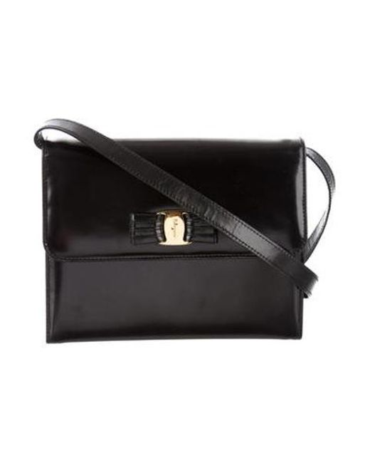 9f377c640dc3 Ferragamo - Metallic Vintage Crossbody Bag Black - Lyst ...