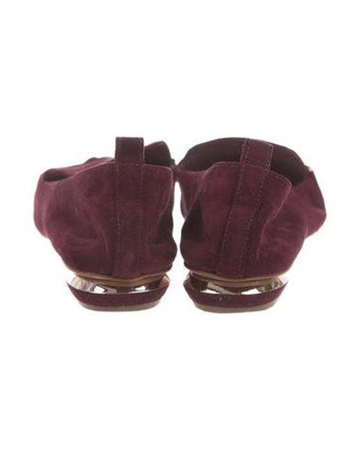 8e5990e3f06 ... Nicholas Kirkwood - Metallic Beya Suede Loafers Purple - Lyst