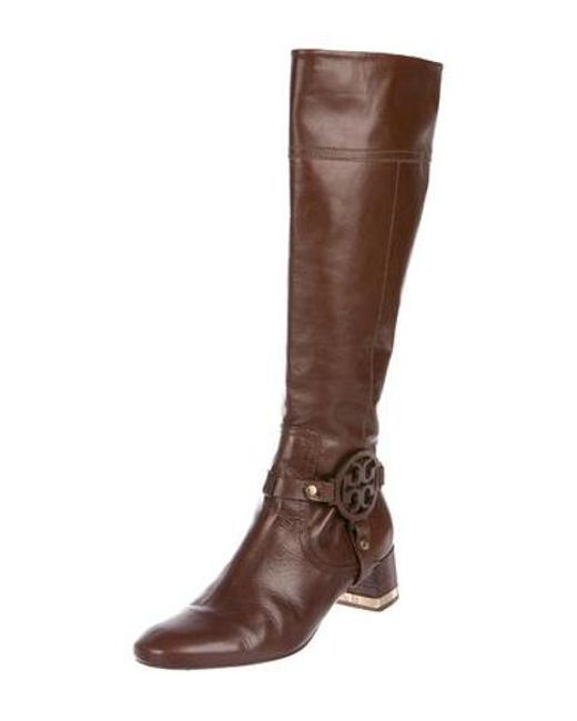 8dacb16ea88 ... Tory Burch - Metallic Leather Knee-high Boots Brown - Lyst ...