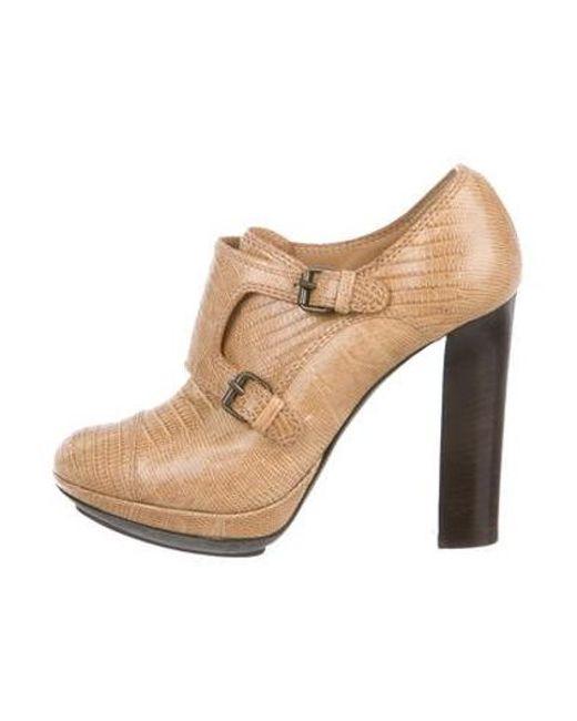 d41e3d1880e4 Lanvin - Natural Leather Ankle Boots Beige - Lyst ...