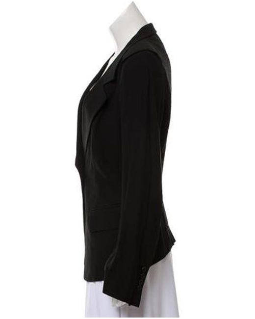 061e02c9c31 ... Ann Demeulemeester - Black Notched Lapel Semi-structured Blazer - Lyst  ...