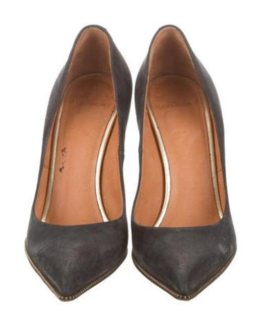 daee5d95db87 ... Givenchy - Black Zipper-trimmed Pointed-toe Pumps - Lyst ...