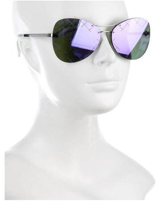 92481402b7cf ... Chanel - Metallic 2016 Mirrored Pilot Sunglasses Silver - Lyst