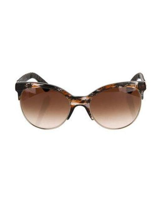 3dd3022e4b54 Chanel - Black Pantos Quilting Sunglasses - Lyst ...
