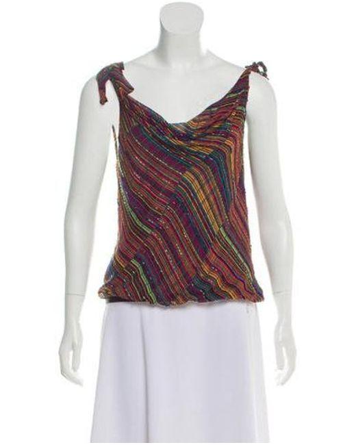 2aebae2aee672 Diane von Furstenberg - Pink Seti Silk Top - Lyst ...