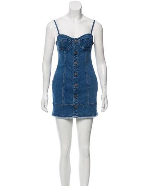 518b11096c N Nicholas - Blue Denim Mini Dress - Lyst ...