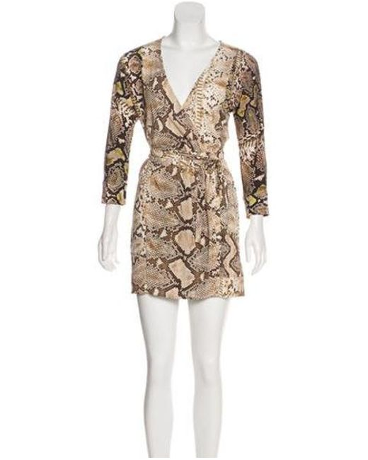 Just Cavalli - Brown Animal Print Wrap Dress - Lyst ... promo code 069cc ... 52fec5f77