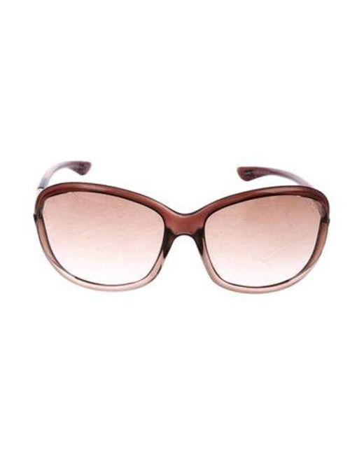 4ebf5c300d Tom Ford - Metallic Jennifer Gradient Sunglasses Brown - Lyst ...