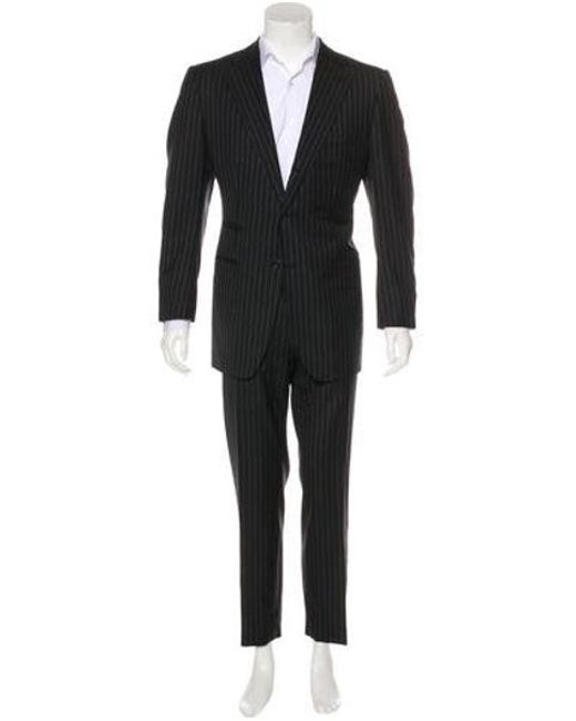 Tom Ford - Gray Striped Wool Suit Grey for Men - Lyst