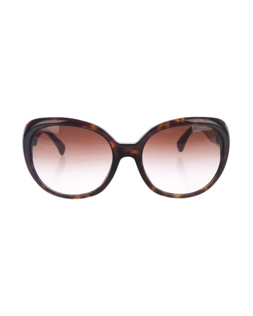 Chanel | Metallic Quilted Cc Sunglasses Brown | Lyst
