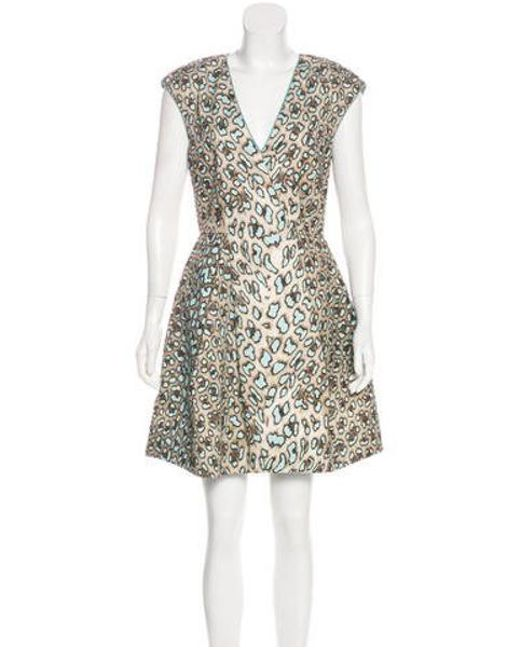 Roberto Cavalli - Brown Animal Print Mini Dress - Lyst ... f5fefb646