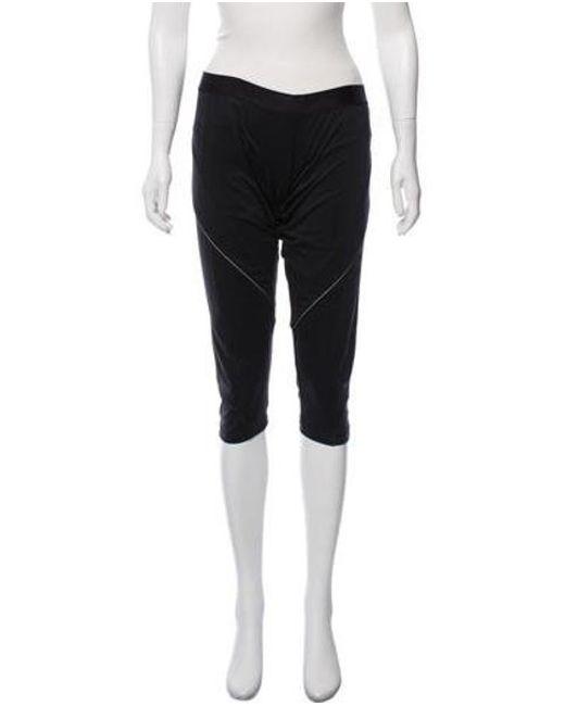 cb8b0e8122094 Adidas By Stella McCartney - Metallic Cropped Mid-rise Leggings Black - Lyst  ...