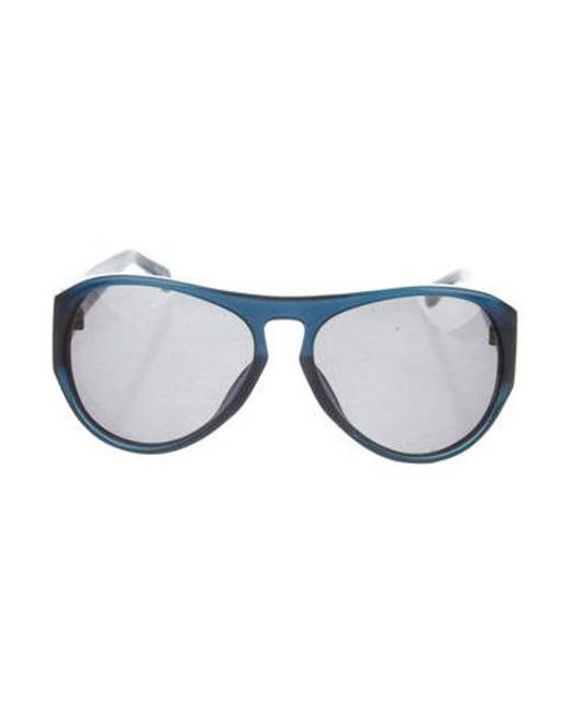 e64ee440ba11 Linda Farrow - Blue Tinted Oversize Sunglasses - Lyst ...