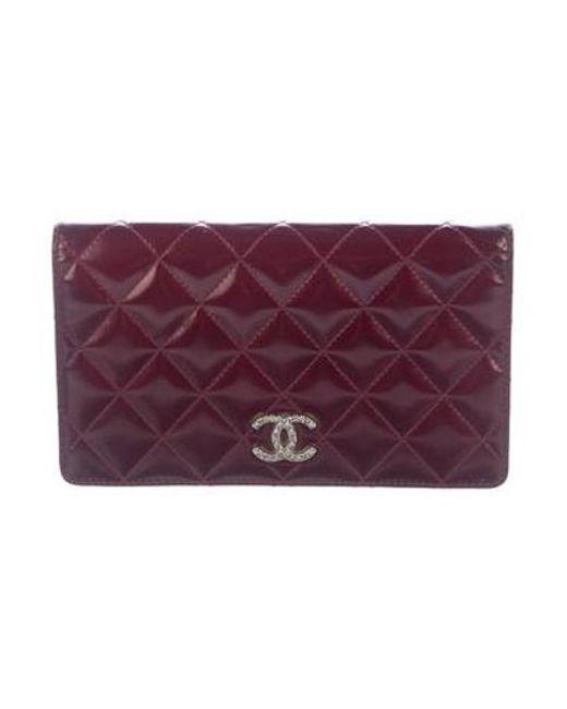 ef88d37ff7850e Chanel - Metallic Brilliant Yen Wallet Silver - Lyst ...
