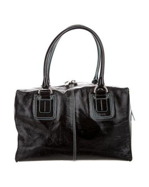 Tod s - Metallic Patent Leather Bag Black - Lyst ... 4acd4a3843116