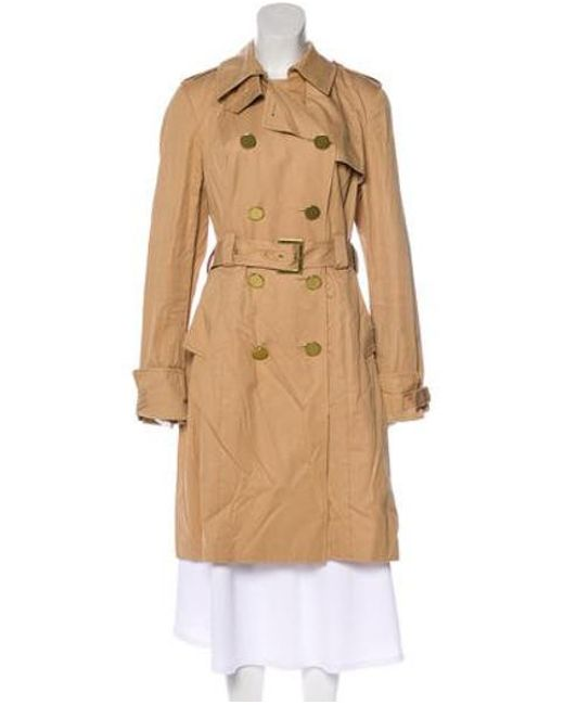 83cb0caff413 Tory Burch - Brown Long Sleeve Trench Coat - Lyst ...