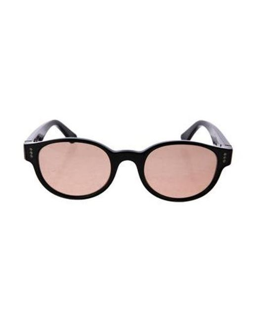 32c5c814f6c Cartier - Metallic Polarized Round Sunglasses Black - Lyst ...