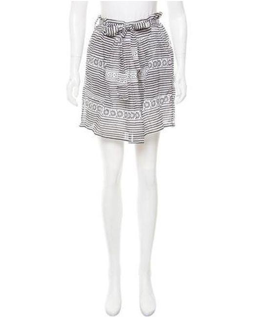 Banjanan - White Roni Striped Skirt W/ Tags - Lyst