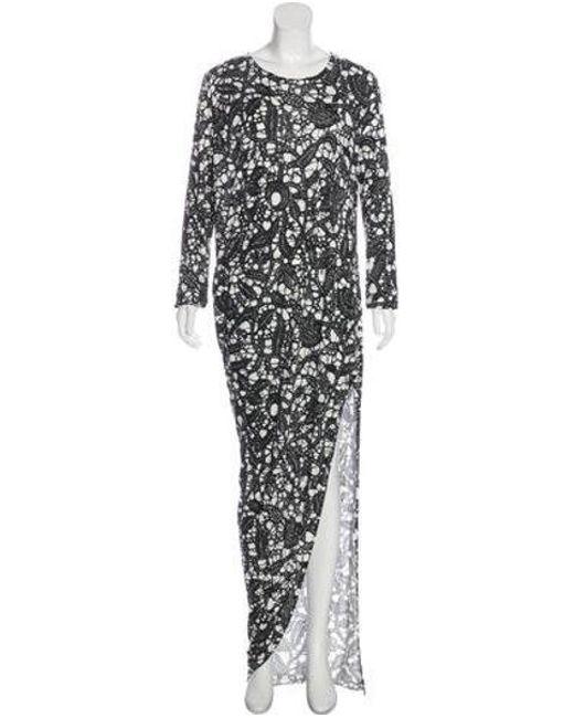 6681b8ab1a304 Thakoon - Black Batik Printed Maxi Dress - Lyst ...