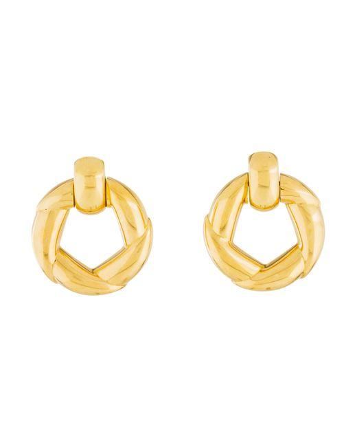 Cartier - Metallic Door Knocker Earrings Yellow - Lyst