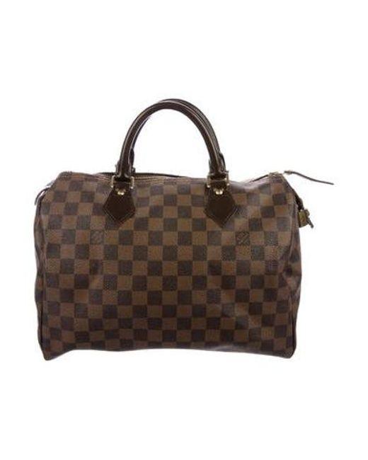 Louis Vuitton - Brown Damier Ebene Speedy 30 - Lyst