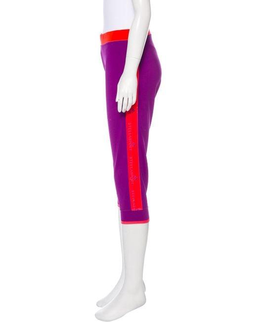 dc1797cf9057d3 ... Adidas By Stella McCartney - Purple Mid-rise Athletic Leggings Violet -  Lyst ...