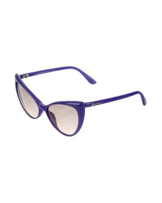 2fab26e2bba3d ... Tom Ford - Purple Anastasia Cat-eye Sunglasses - Lyst ...