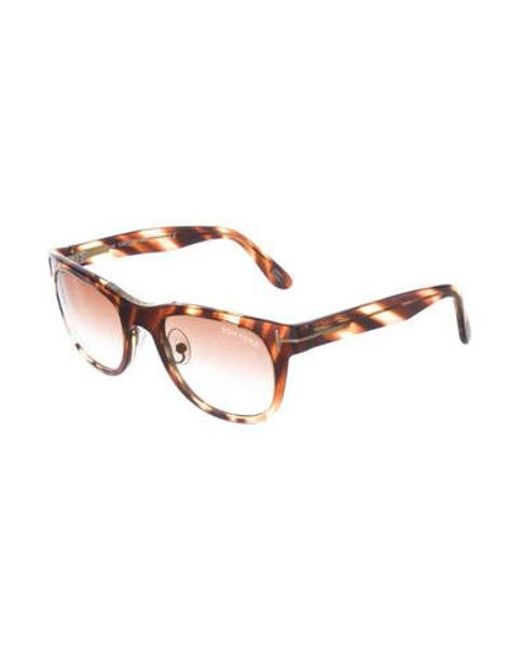 bbe8e53aea ... Tom Ford - Brown Jack Gradient Sunglasses - Lyst ...