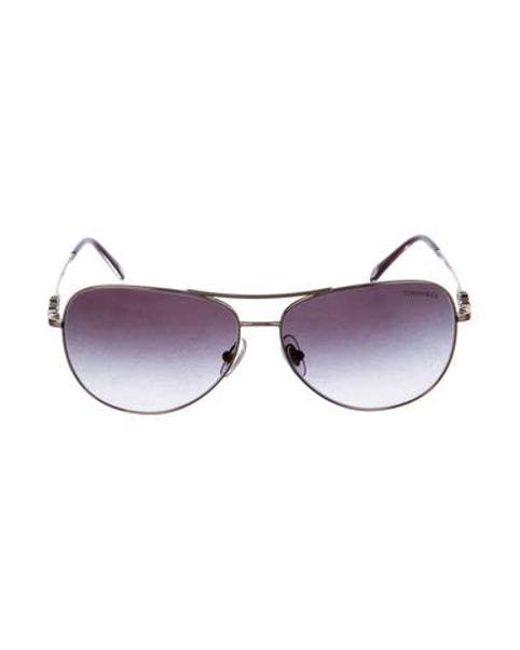 c3ea50d13f8d Tiffany   Co - Metallic Gradient Aviator Sunglasses Gold - Lyst ...