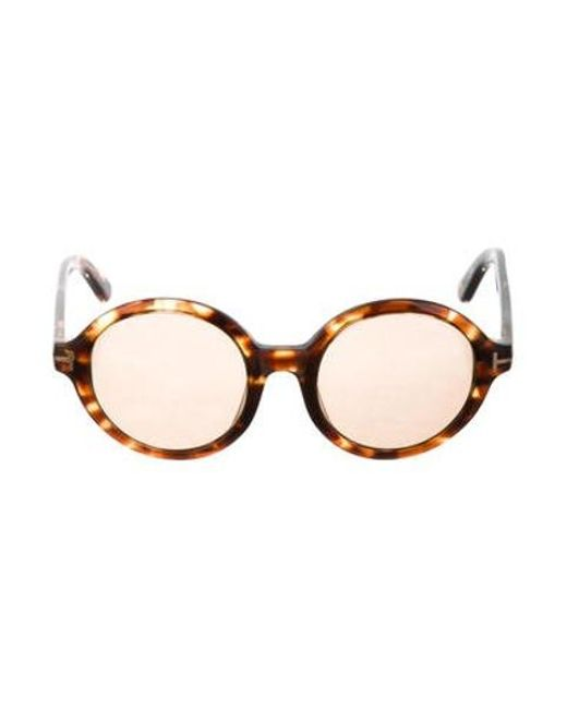 d92135e0204 Tom Ford - Metallic Carter Tortoiseshell Sunglasses Brown - Lyst ...