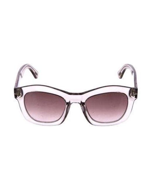 40fffd1327 Tom Ford - White Greta Cat-eye Sunglasses Transparent - Lyst ...